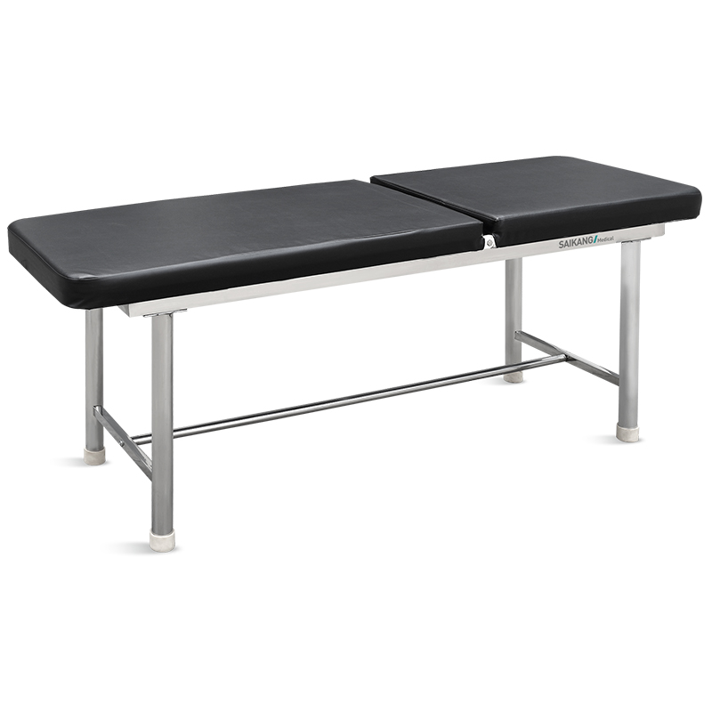 X09 Stainless Steel Single Function Adjustable Medical Couch Bed Patient Hospital Manual Examination Table Manufacturers