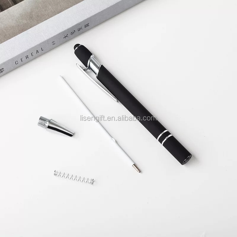 Promotional Branded Soft Touch Stylus Rubberized Metal Ballpoint Pen