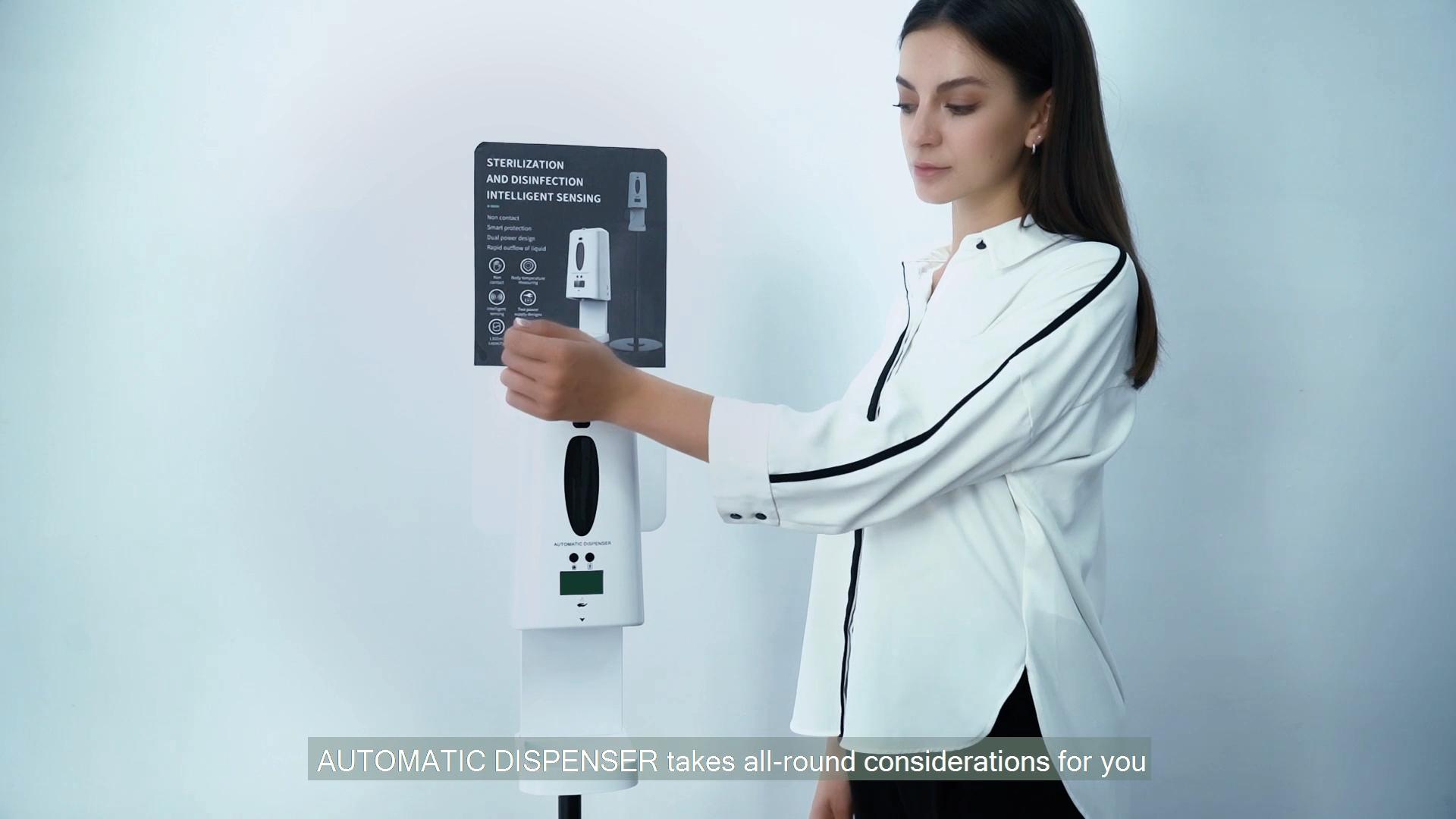 Pfandrecht design touchless flüssigkeit automatische hand waschen spender seife 1300 ml smart thermometer