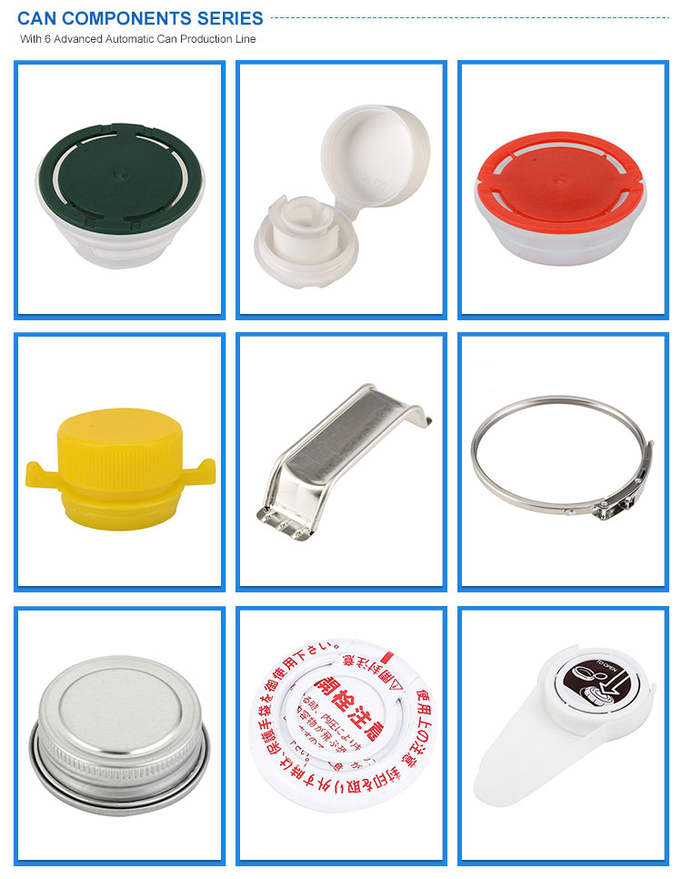 High Quality Metal Can Components Squeeze Cap Finger Press Lids