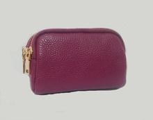 Женский кошелек из натуральной кожи, маленький клатч, Дамский кошелек с радиочастотной идентификацией, роскошный брендовый кошелек на молн...(Китай)
