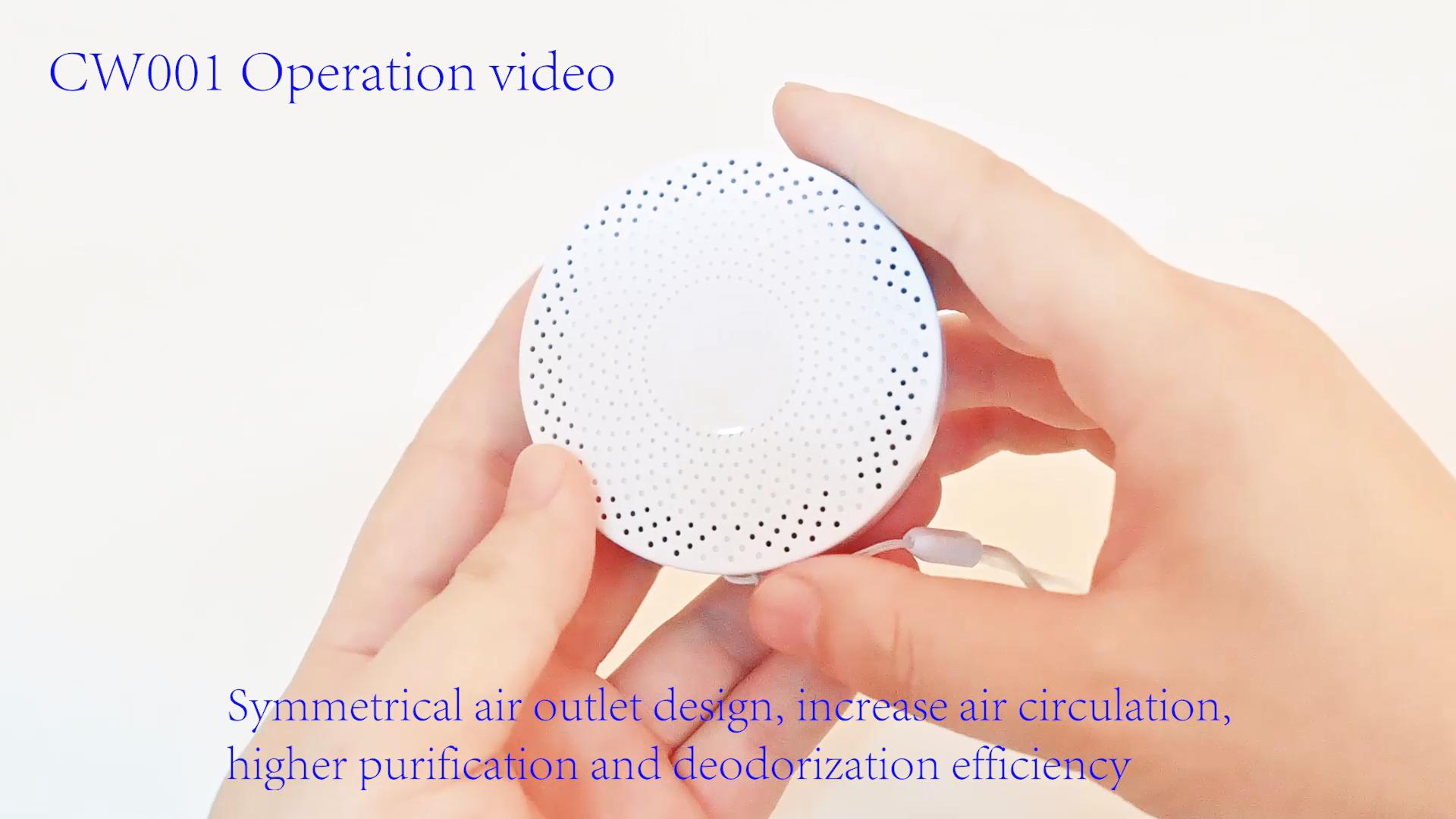 Portable Mini Ozone Machine O3 Deodorization Sterilizer Air Purifier