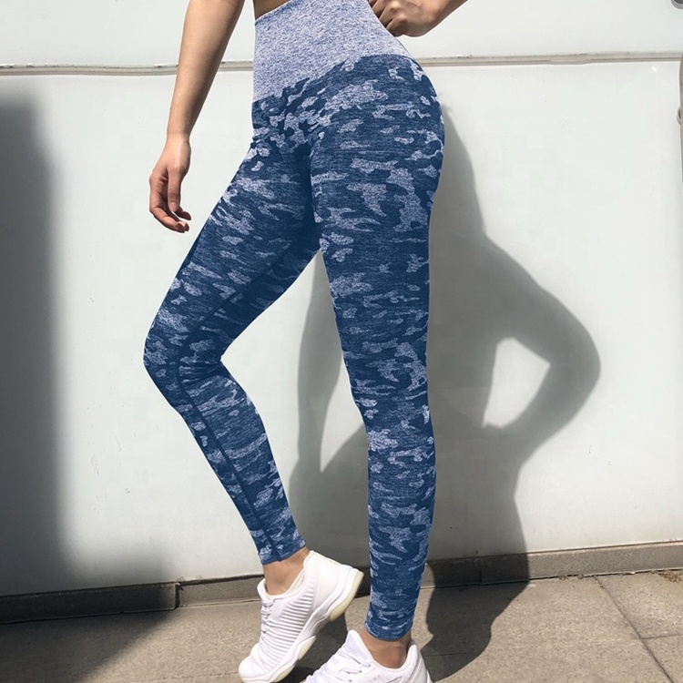 Frauen Yoga Strumpfhosen Fitness Sport Hohe Taille Workout Butt Lift Camo Leggings Nahtlose Leggins