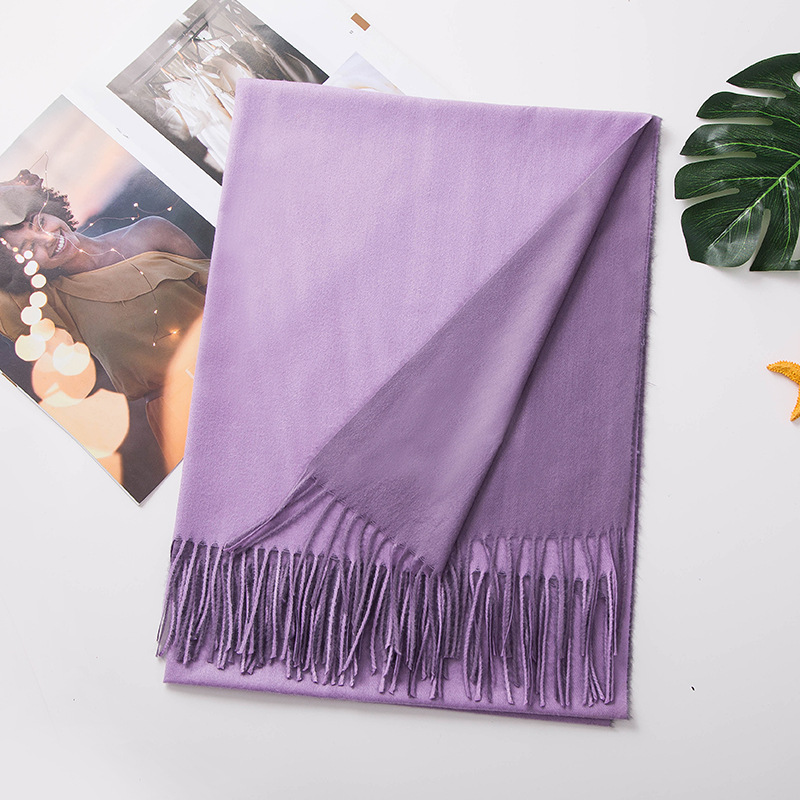 Zooying tassel winter scarf knitted shawl scarf fashion accessories