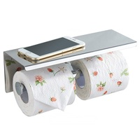 Wall Mount High Quality Chrome Plating Toilet Paper Roll Holder