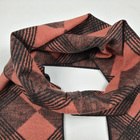 Orange and Black color fashion design 100% Silk brushed jacquard scarf for men's and ladies manufacture