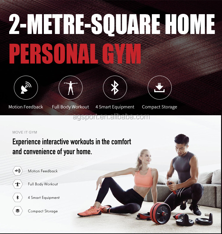 2020 New product Bluetooth Mobile App Motion Tracking Muscle Strength Training  4 in 1 Smart Body Builder home Fitness Equipment