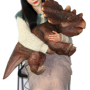 P001 Realistic Baby Dinosaur Hand Puppet with Voice