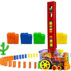 Train Toy Toys Trainplastic Domino Train 60PCS Blocks Rally Electric Toy Set Train Model With Lights And Sounds Construction And Stacking Toys