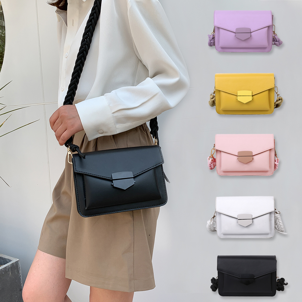 product-Women new arrival Candy Color body Bags Small Square Shoulder Handbags Female Purse Classic
