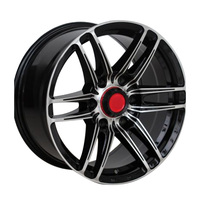 1 Piece OEM forged matt black rays chrome alloy wheels concave for cars