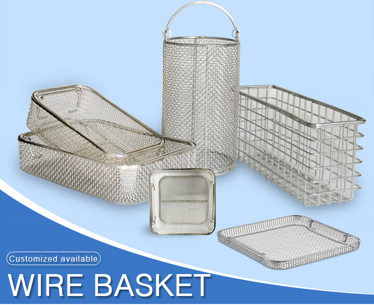 Blue Storage Basket With Built-in Handles