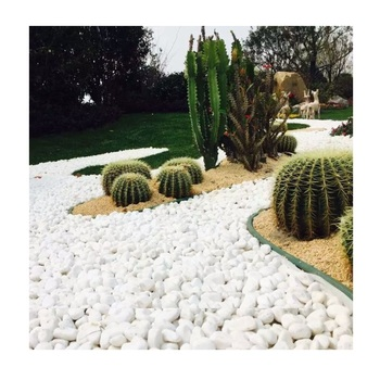 Landscaping Decor Wash Finish Polish Floor China Round Granite White Color Pebble Stone for Garden Paver