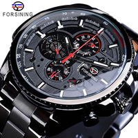 2019 new arrival Forsining luxury 3ATM water resistant watch custom automatic chronograph male watches