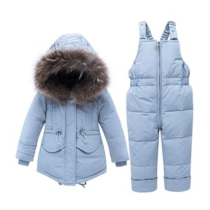 Kids Winter Casual Suit Fashion Waterproof Girls Snowsuit