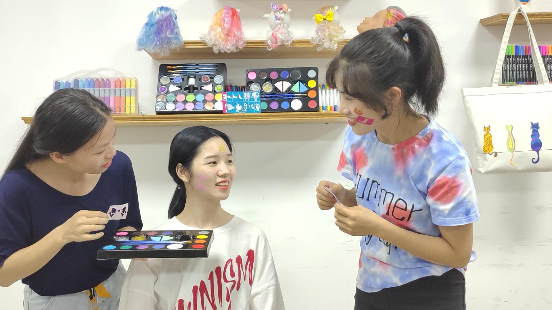 Body & Gezicht Schilderij Make-Up Kit Set Professionele Kwaliteit Gezicht Verf Voor Familie Party En Halloween Dag