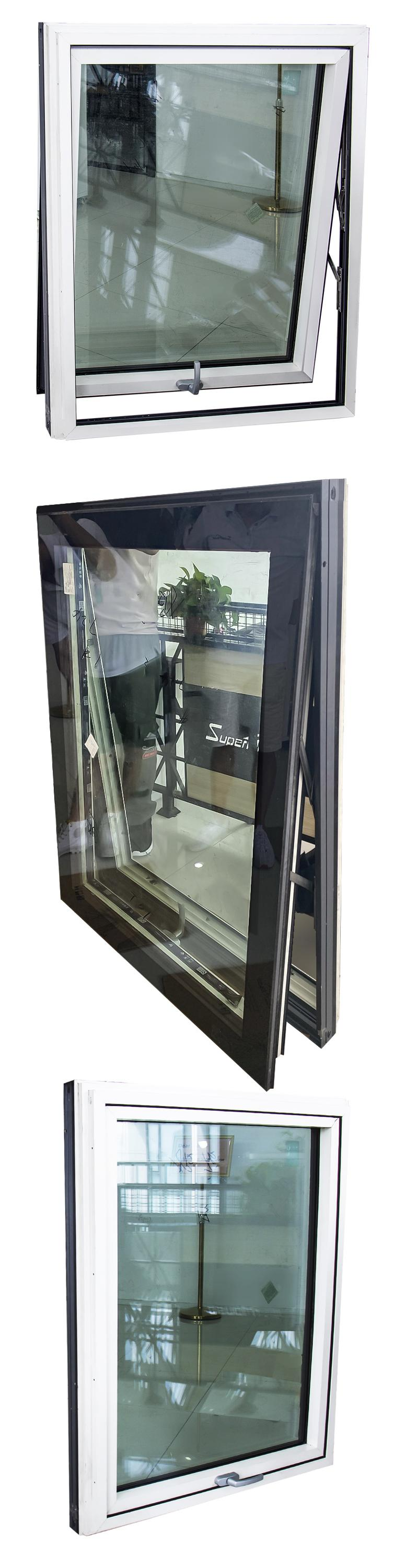 Australia standard AS2047 chain winder awning window vertical opening double glazed window