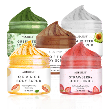 OEM Korea Rose Lavender Mango Matcha Charcoal Turmeric Skin Whitening Coconut Milk Fruit Foaming Body Wash Scrub Cream