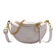 Модная поясная сумка с цепочкой для женщин 2020, сумка через плечо из искусственной кожи, Дамская нагрудная сумка, поясная сумка для отдыха, же...(Китай)