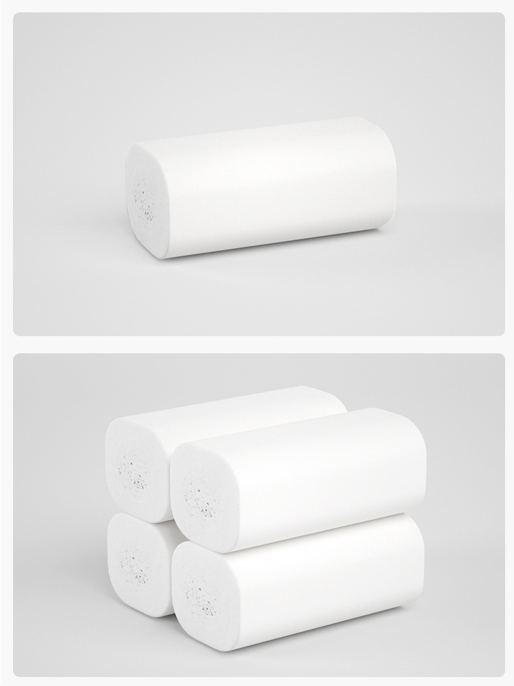 China supplier hight quality white biodegradable toilet paper