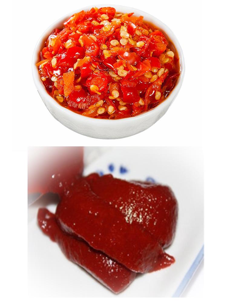 Épais doux épicé cholomex piment sauce pâte sambal oelek en plastique chaude sauce bouteille en verre fabricant de Xinjiang