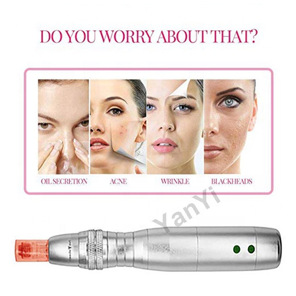 YanYi 7 color LED photon therapy electric dr microneedling pen