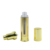 cosmetic packaging double wall 30ml aluminum gold airless lotion pump bottle