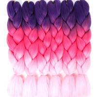 "Wholesale Jumbo Braid 16 Color 24""Jumbo Braiding Hair extension For Black women"