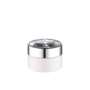 luxury cosmetic packaging 30g face cream  acrylic jar with aluminum silver  lid