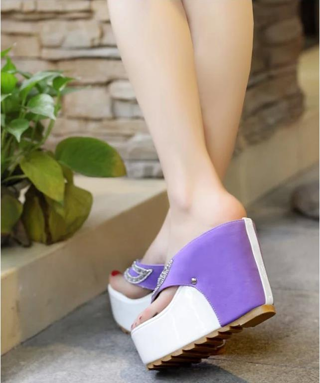 European and American round-head toe-toed heeled women waterproof table casual women's shoes