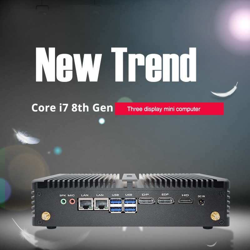 Dual LAN Personal and Integrated I5 8250U Mini Pc With 32GB Ram Win10 Pro UHD 620 4K HTPC Stock Computer