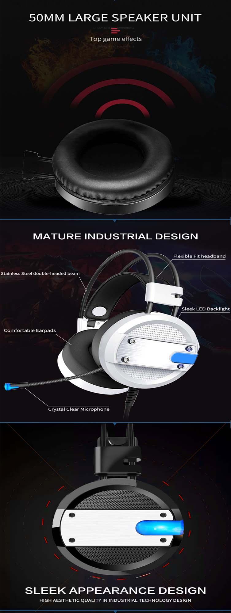 Casque stéréo USB câble ordinateur jeu casque