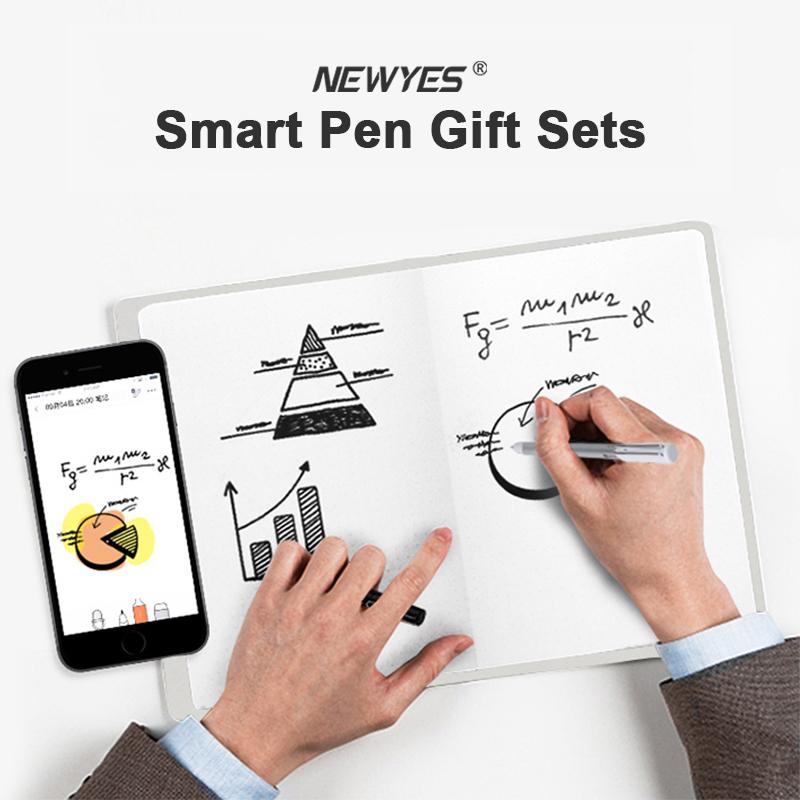 Newyes Brand New Sync Handwriting Storagable Digital Writing Notebook Smart Pen Set