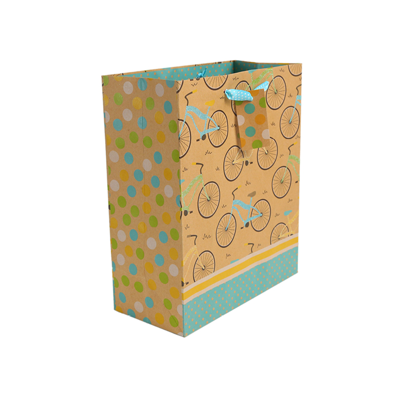 Certificated Custom Kraft Brown Paper Bag For Clothing Packaging, Glitter Paper Bags With Logo Printing