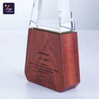 Wood Award Award High-end Creative Customized Solid Wood Base Crystal Award