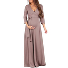 High Quality Silk High Elastic Long Clothes Women Maternity Dress