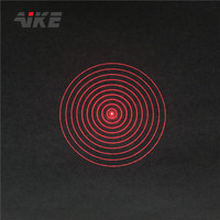 AIKE high quality 10 Rings Circles DOE 50mw 635nm Laser Diode Module