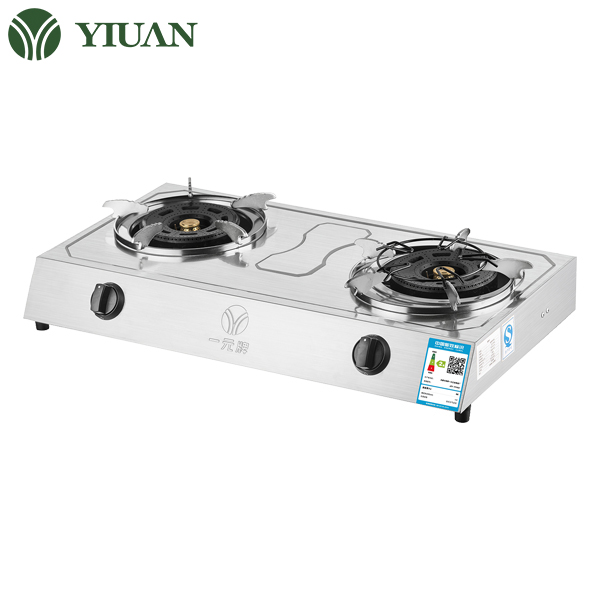 Cast iron gas cooker high pressure gas burner double rings large size gas stove