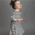 Autumn Winter Parent-child Family Matching Outfits Casual LongSleeve Striped Dress Women Kid Girl Mother Daughter Family Clothes