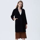 New design Fall Winter Lady Casual Black Loose Oversized Long Woman Coat