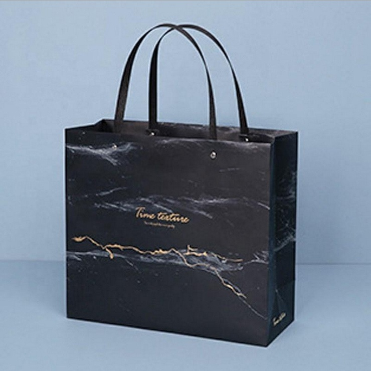 product-Dezheng-Biodegradable Waterproof Paper Bag Marble Design Stone Paper Bag For Shopping And Gi-1