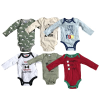 Mixed Newborn Infant Toddler Summer Cotton Rompers Children Stock lots Apparel Surplus Garments