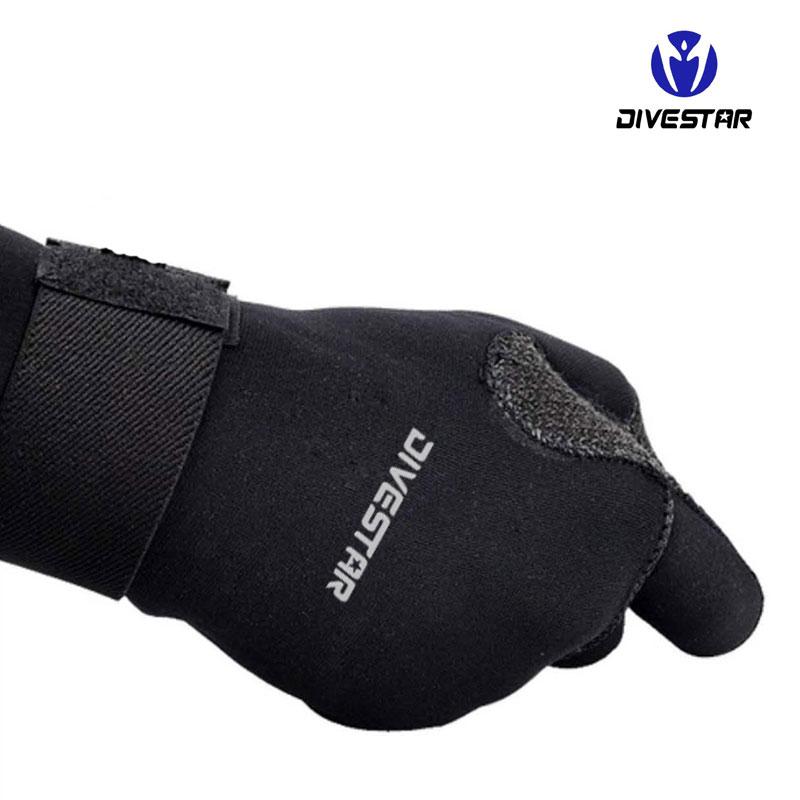 Divestar Custom neoprene gloves, Durable Kevar 3mm5mm anti-slip Neoprene diving glove