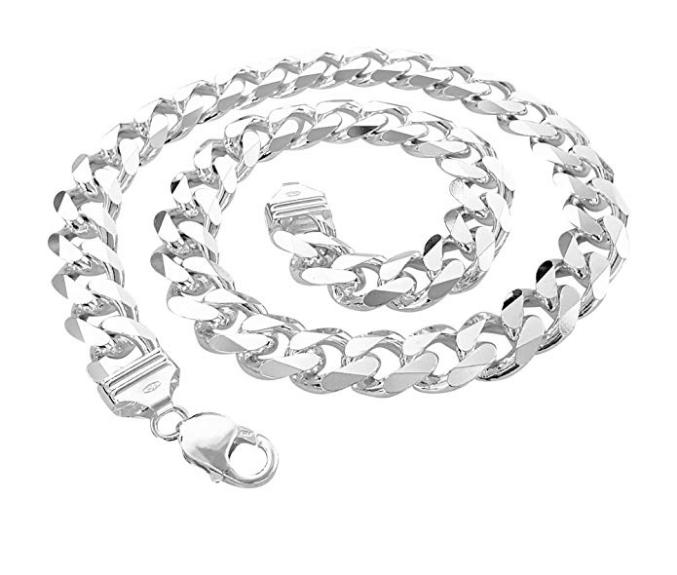 925 plata esterlina sólida 16 18 20 22 24 pulgadas de 1.8 mm frenar enlace Collar de cadena