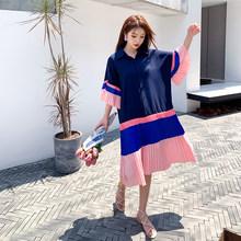 Женское платье в полоску XITAO, Элегантный Повседневный пуловер свободного покроя размера плюс, лето 2020, DZL1370(Китай)