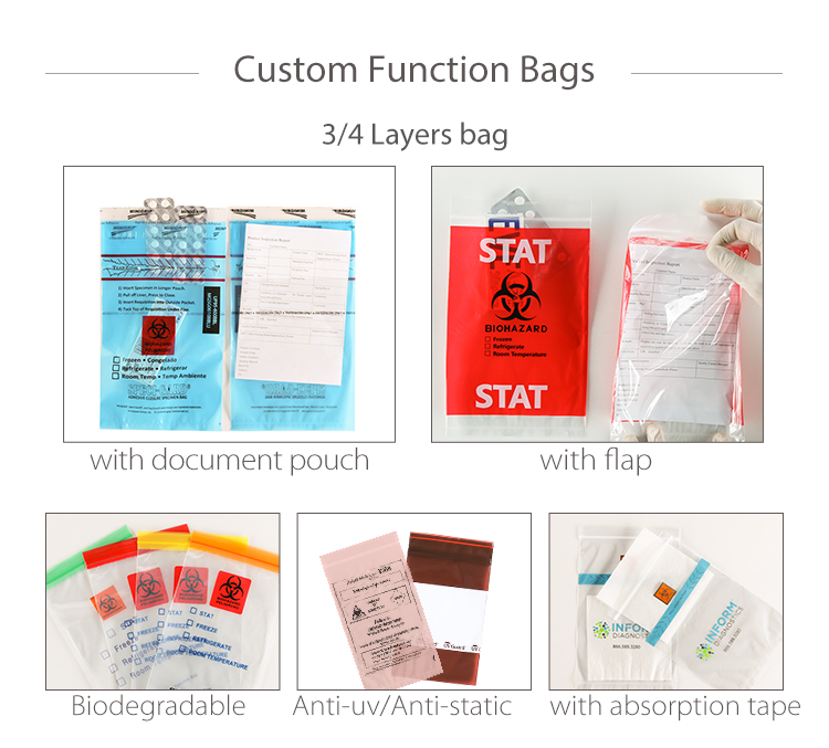 YTBagmart Clinical Waste Bags Lab Biohazard Bags Medical Incinerator Autoclave Biohazard Bags