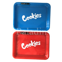 Custom logo Rechargeable   jungle boys  Runtz Cookies Glow Tray LED Rolling Tray with the packaging