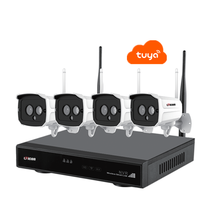 4CH H.265 Tuya App 2MP Audio Video Wireless di Sorveglianza NVR Kit Sistema di Telecamere di Sicurezza