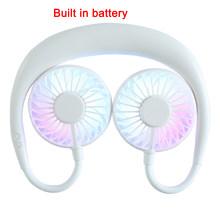 Мини USB портативный вентилятор шейный платок с перезаряжаемой батареей маленький настольный вентилятор Ручной кондиционер для комнаты(Китай)