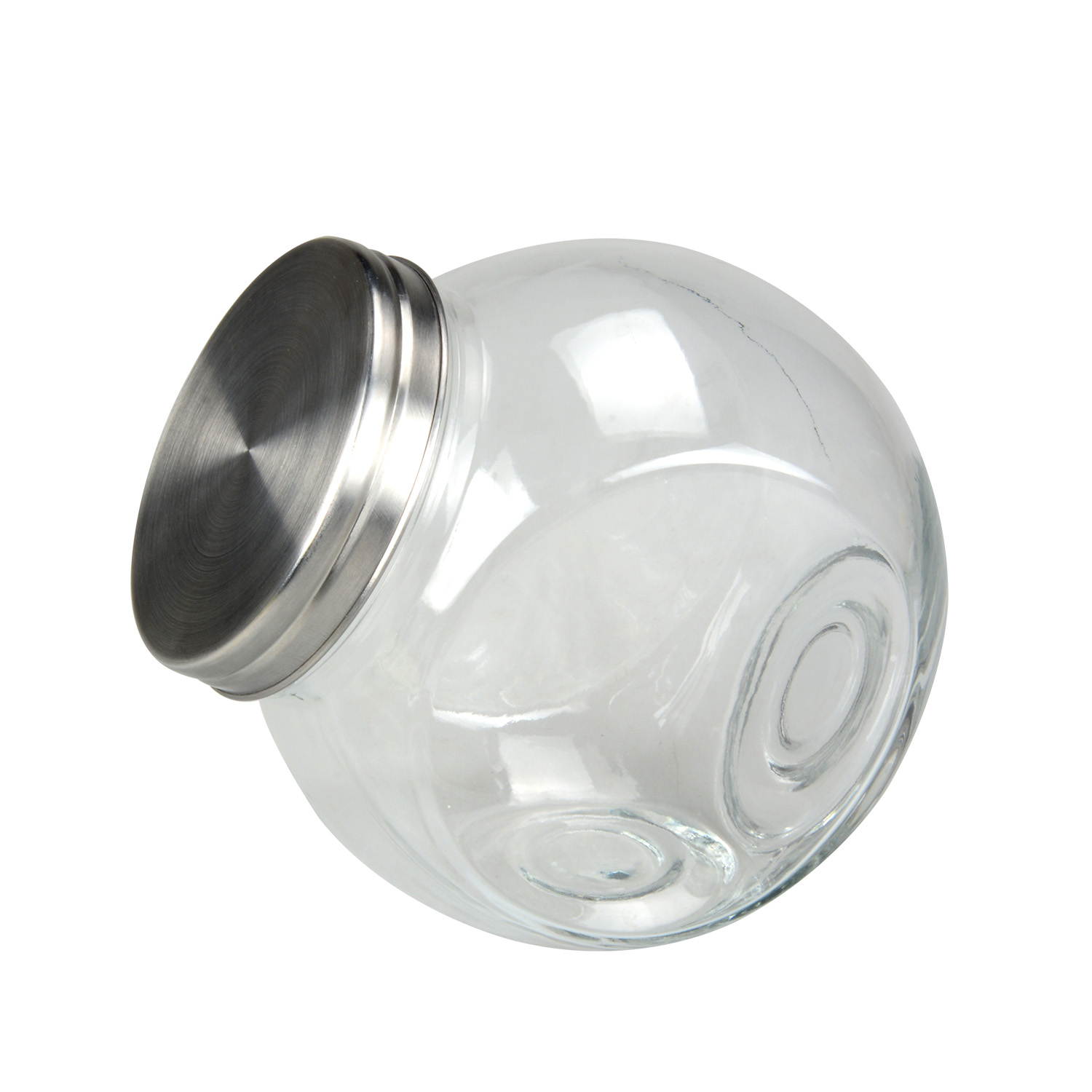Factory Produce Glass Jar With Metal Lid Mini Candy Glass Jar